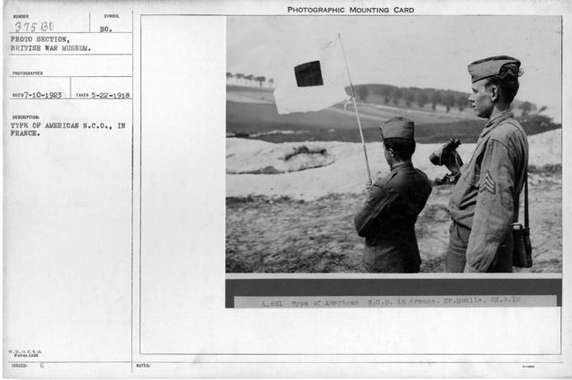 Type of American N.C.O., in France; 5/22/1918