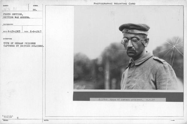 Type of German prisoner captured by British soldiers. 6-8-1917