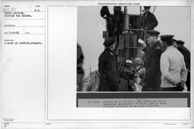 U-boat at Harwich, England