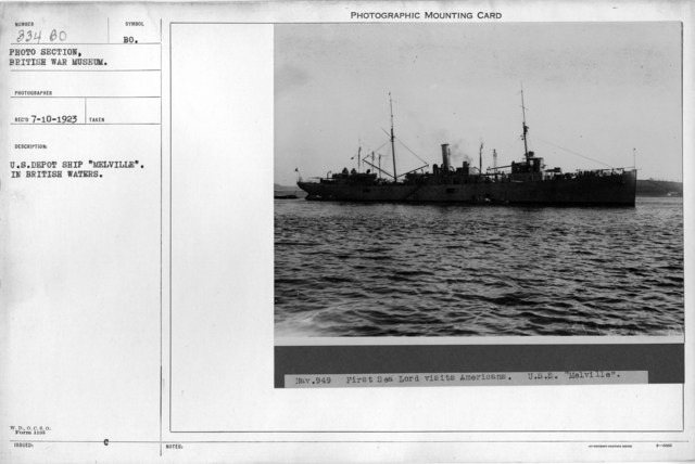 "U.S. Depot Ship ""Melville"". In British waters"