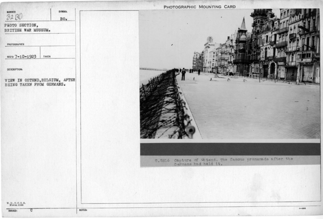 View of Ostend, Belgium, after being taken from Germans