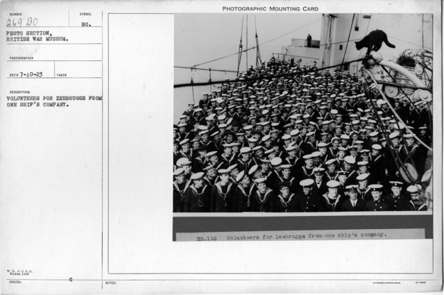 Volunteers for Zeebrugge from one ship's company