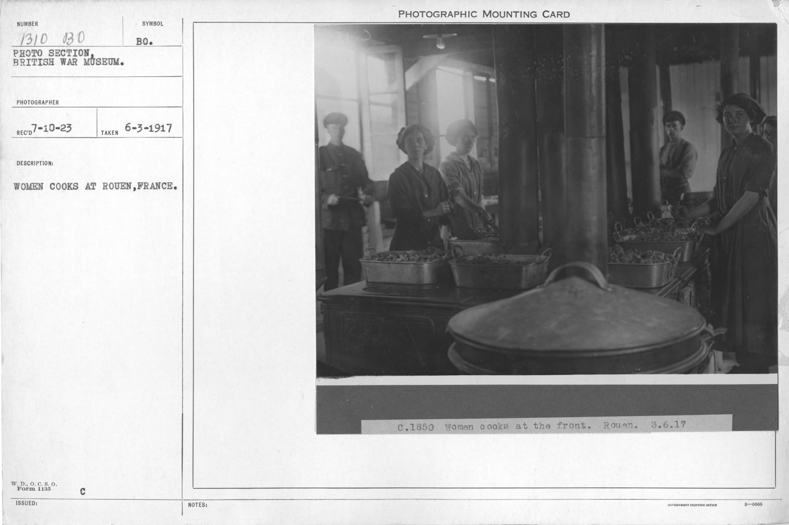 Women cooks at Rouen, France. 6-3-1917