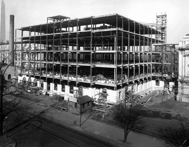 Photograph of the Department of Agriculture Administration Building being Constructed