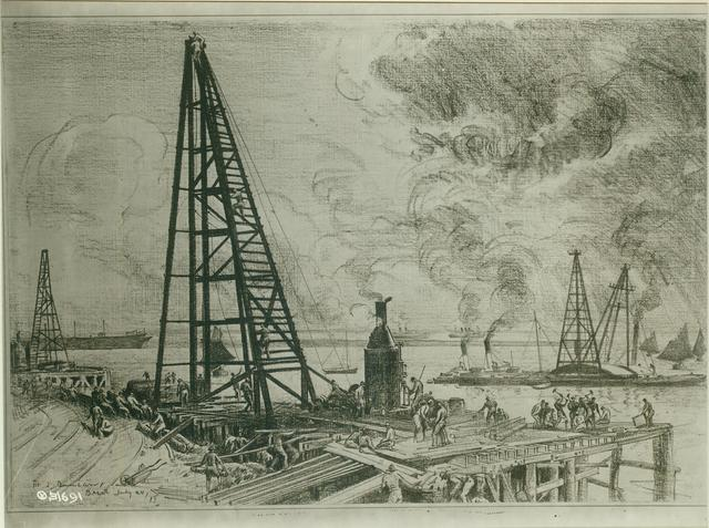 The Construction of Docks at Brest by U.S. Engineers