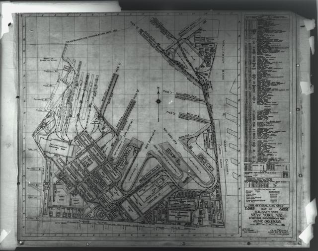 Map of Yard, June 30, 1928