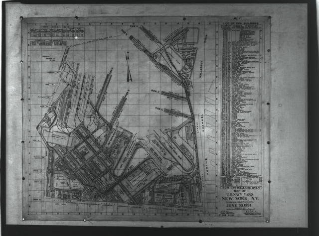 Map of Yard, June 30, 1931