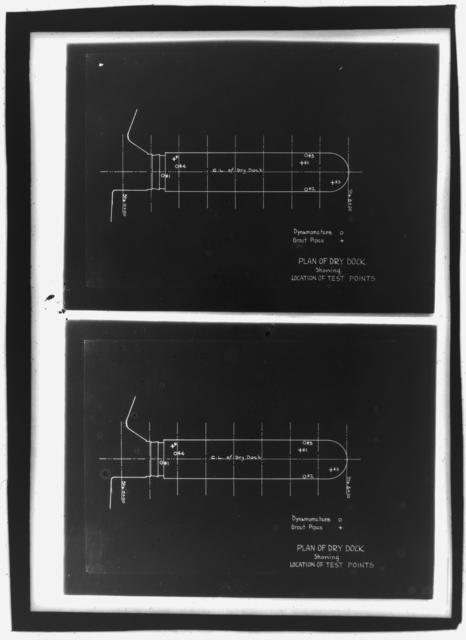 Plan of Dry Dock Showing Locations of Test Points