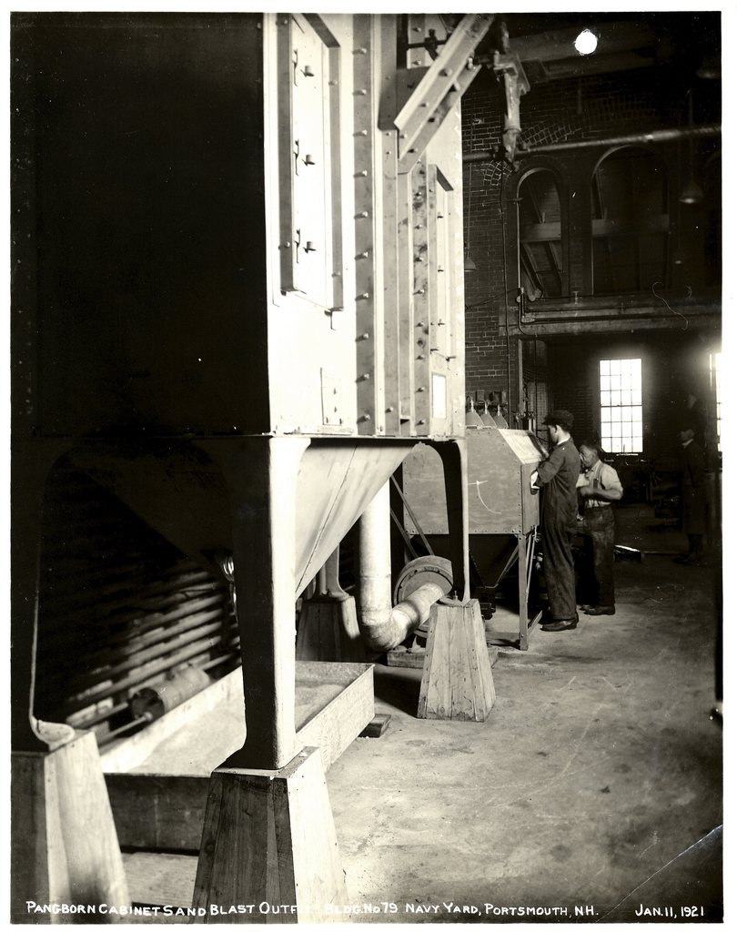 Pangborn Cabinet Sand Blast Outfit, Building No. 79, Navy Yard, Portsmouth, New Hampshire