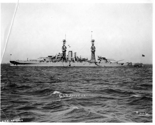 USS Arizona in March 1922