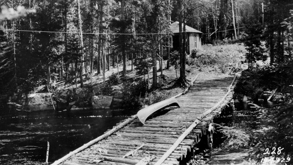 Photograph of a Forest Ranger's Cabin in the Wilderness Country