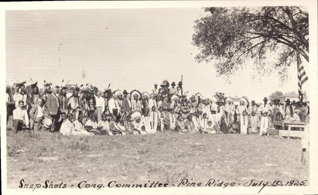 Indians in Native Dress with Congressman