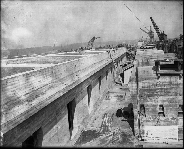 Photograph of Wilson Dam Construction