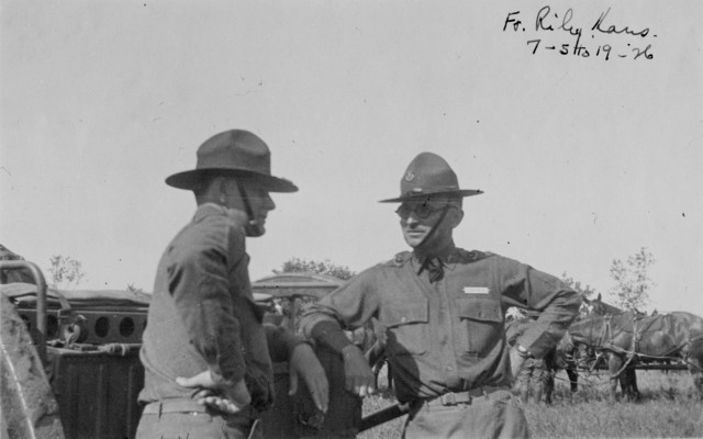 Photograph of Harry S. Truman at Fort Riley