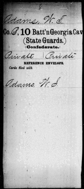 Adams, W T - 10th Battalion, Cavalry (State Guards)