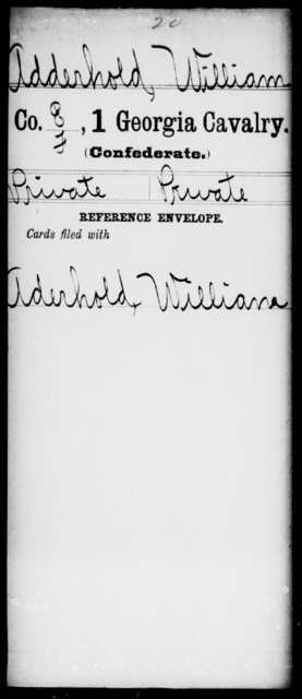 Adderhold, William - 1st Cavalry