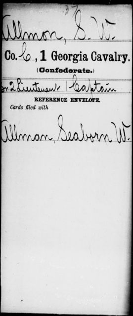 Allmon, S W - 1st Cavalry
