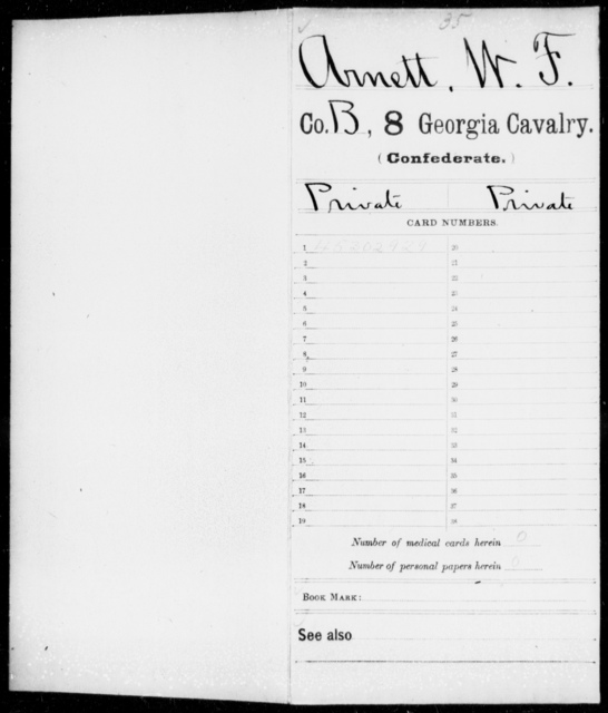 Arnett, W F - 8th Cavalry
