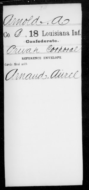 Arnold, A - Age [Blank], Year: [Blank] - Eighteenth Infantry, A - Bo - Louisiana