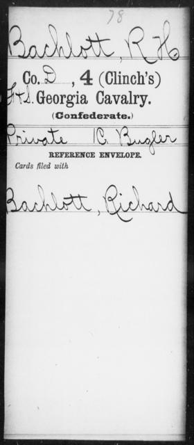 Bachlott, R H - 4th (Clinch's) Cavalry