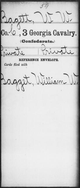 Bagett, W W - 3d Cavalry