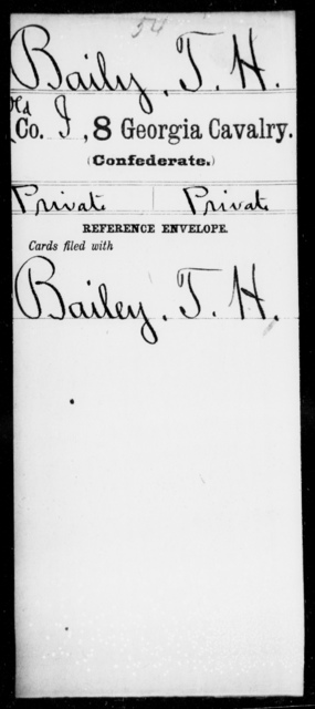 Baily, T H - 8th Cavalry