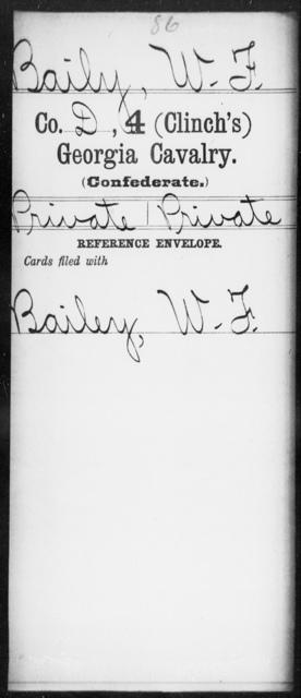Baily, W F - 4th (Clinch's) Cavalry