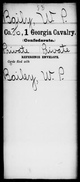 Baily, W P - 1st Cavalry