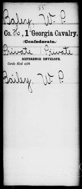 Baley, W P - 1st Cavalry