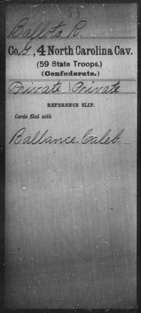 Ballots, R - Fourth Cavalry (59th State Troops)