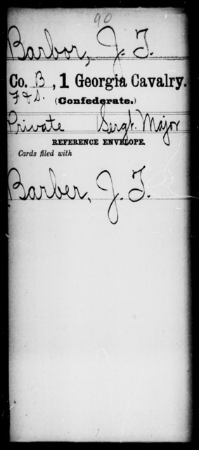 Barbor, J T - 1st Cavalry