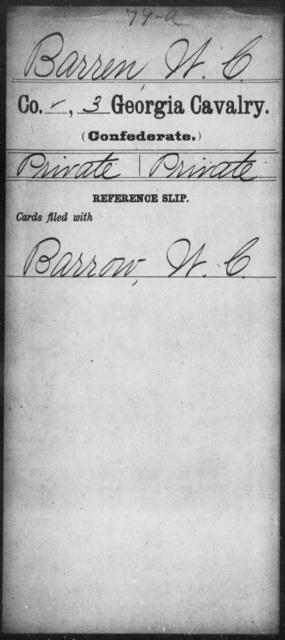 Barren, W C - 3d Cavalry