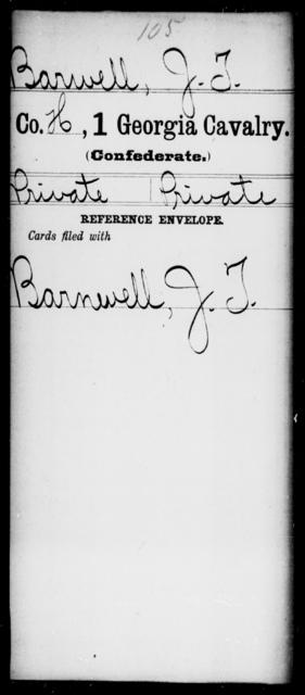 Barwell, J T - 1st Cavalry