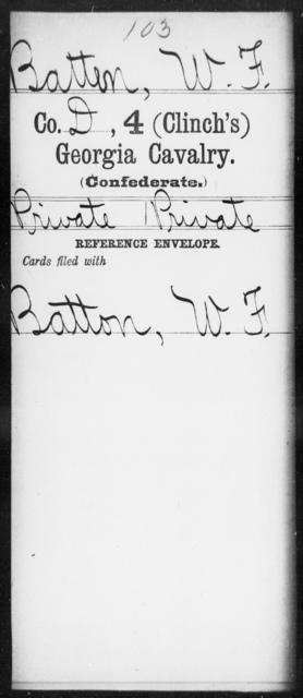 Batten, W F - 4th (Clinch's) Cavalry
