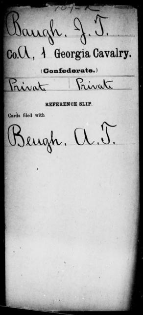 Baugh, J T - 1st Cavalry
