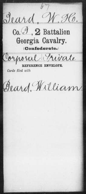 Beard, W H - 2d Battalion, Cavalry