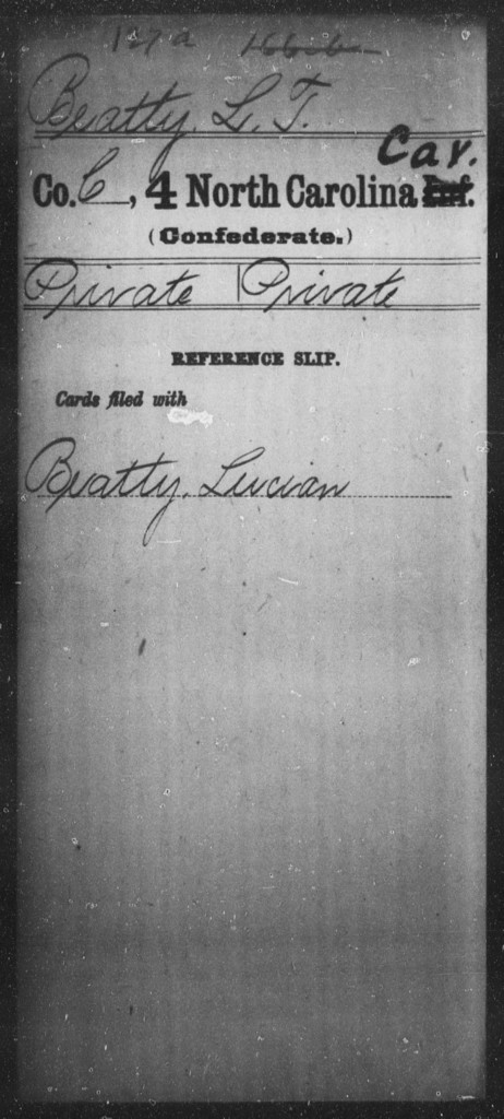 Beatty, L T - Fourth Cavalry (59th State Troops)