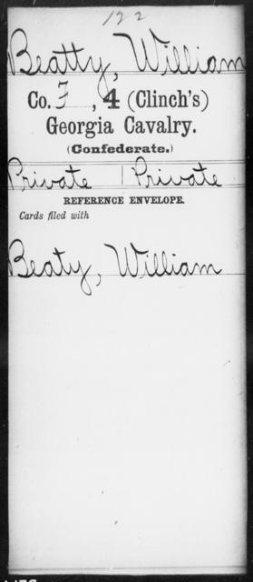 Beatty, William - 4th (Clinch's) Cavalry