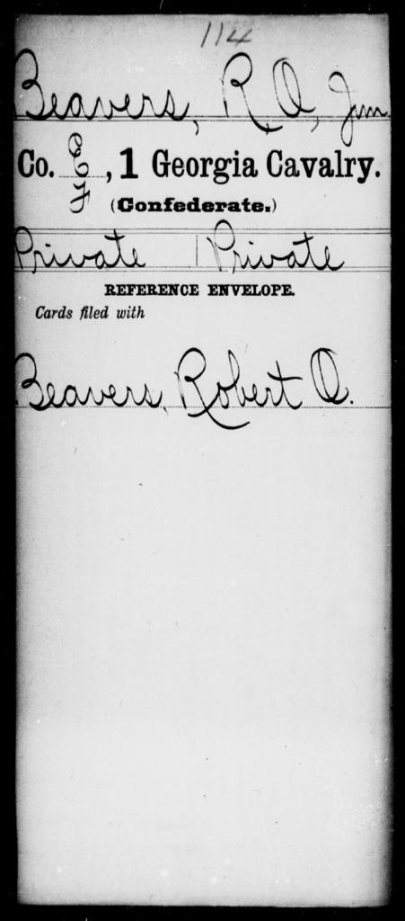 Beavers, R O - 1st Cavalry