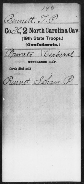 Bennett, T P - Second Cavalry (19th State Troops)