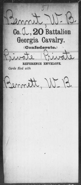 Bennit, W B - 20th Battalion, Cavalry