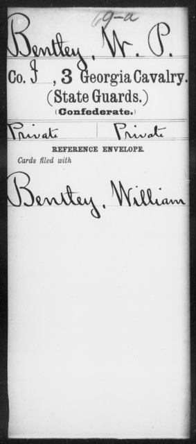Bentley, W P - 3d Cavalry (State Guards)