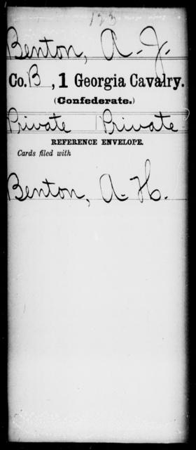 Benton, A J - 1st Cavalry