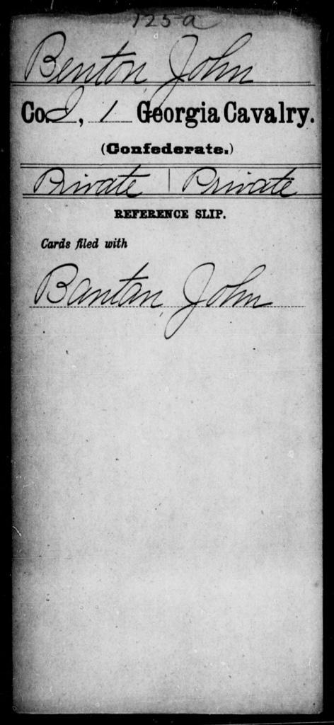 Benton, John - 1st Cavalry