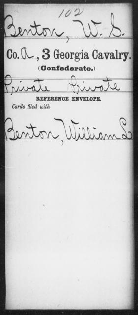 Benton, W S - 3d Cavalry