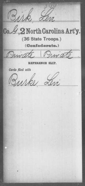 Birk, Levi - Second Artillery (36th State Troops)