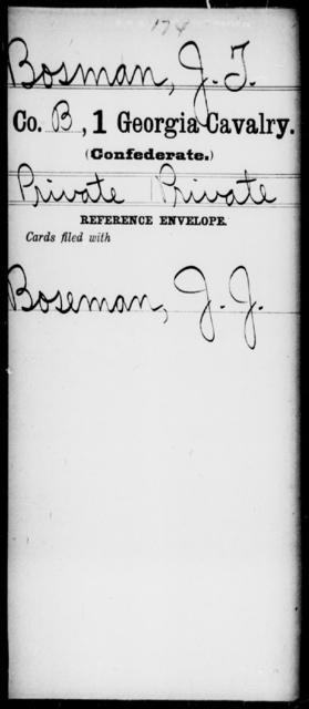 Bosman, J T - 1st Cavalry