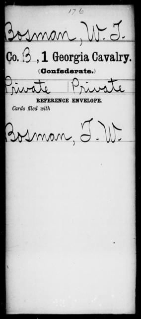 Bosman, W T - 1st Cavalry