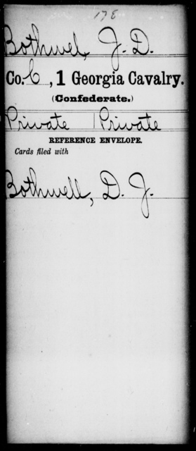Bothwell, J D - 1st Cavalry