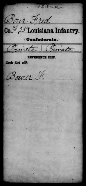 Bour, Fred - Age [Blank], Year: [Blank] - Twenty-fifth Infantry, A - Co - Louisiana